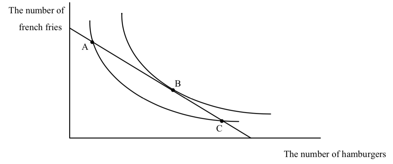 Indifference Curve Budge Line