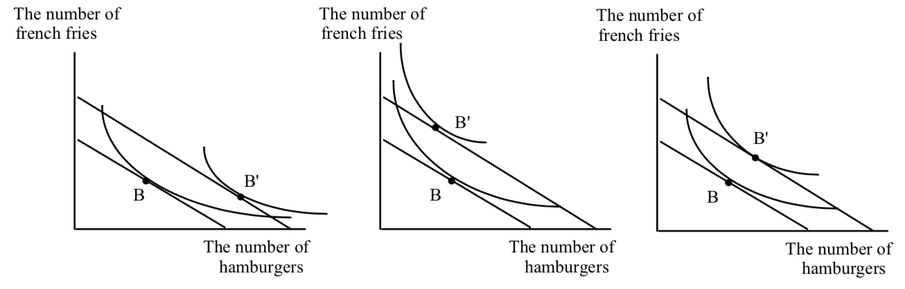 Three Possible Indifference Curves